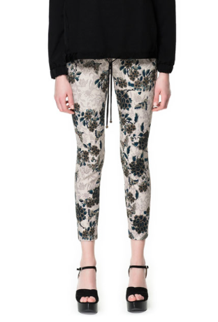 Printed Floral Pants Flower