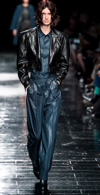 Theory Sexy Black Leather/Latex Jacket